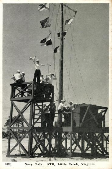 Little Creek Virginia, Navy Talk, Atb, Signalmen--Giclee Print