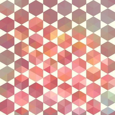 Retro Pattern of Geometric Hexagon Shapes