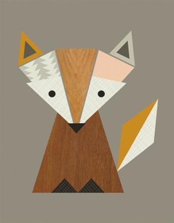 Geometric Fox by Little Design Haus