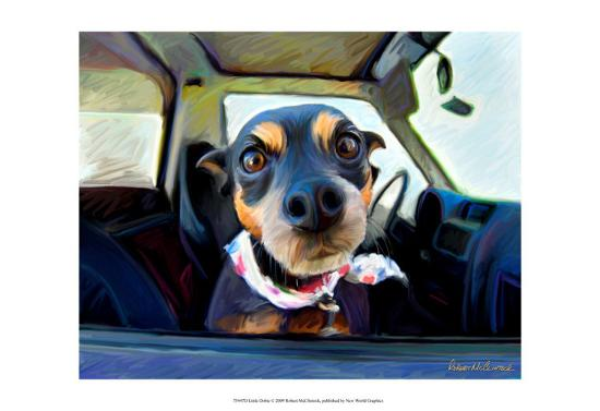 Little Dobie-Robert Mcclintock-Art Print