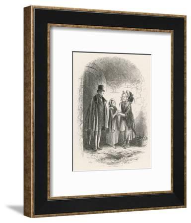 Little Dorrit and Little Mother--Framed Giclee Print