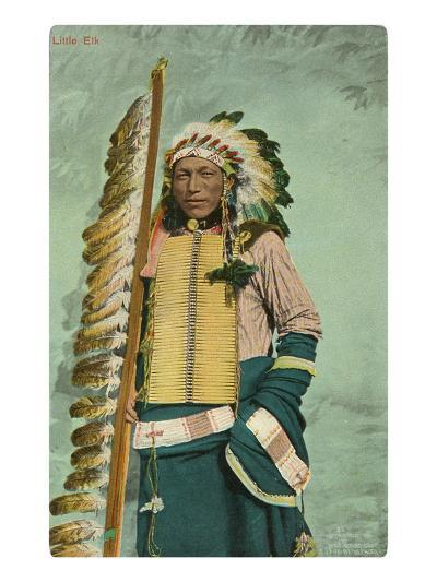 Little Elk, Plains Indian--Art Print