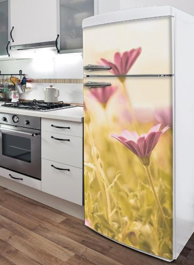 Little Flowers Refrigerator Decal--Wall Decal