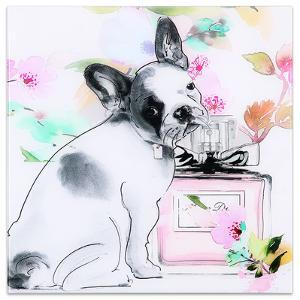 Little Frenchie - Free Floating Tempered Glass Panel Graphic Wall Art