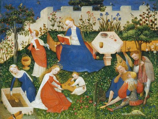 Little Garden of Paradise (Das Paradiesgärtlein)-Upper Rhenish Master-Giclee Print