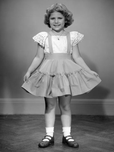 Little Girl Holding Her Ruffled Skirt Out-George Marks-Photographic Print