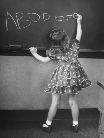 Little Girl Learning Her Abc's-Nina Leen-Photographic Print