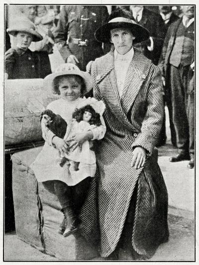 Little Girl Rescued from the 'Lusitania' 1915--Photographic Print