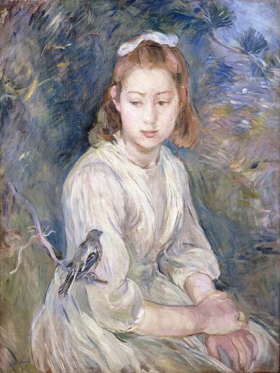 Little Girl with a Bird, 1891-Berthe Morisot-Giclee Print