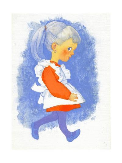 Little Girl with Apron, 1970s-George Adamson-Giclee Print