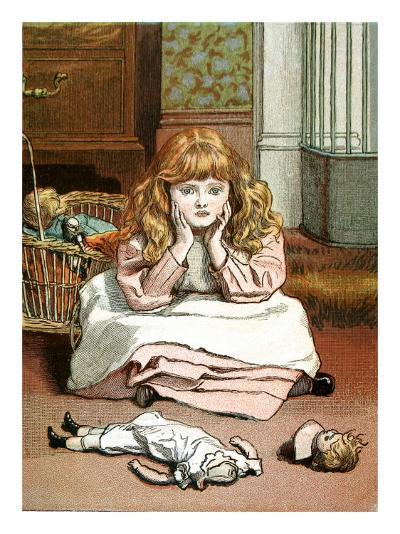 Little Girl with Her Broken Doll, 1888--Giclee Print