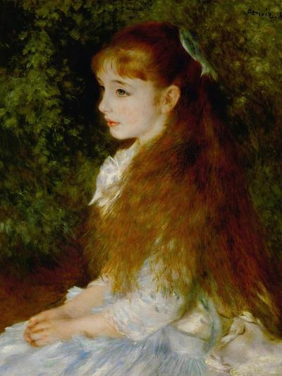 Little Irene, Portrait of the 8 Year-Old Daughter of the Banker Cahen D'Anvers, 1880-Pierre-Auguste Renoir-Giclee Print