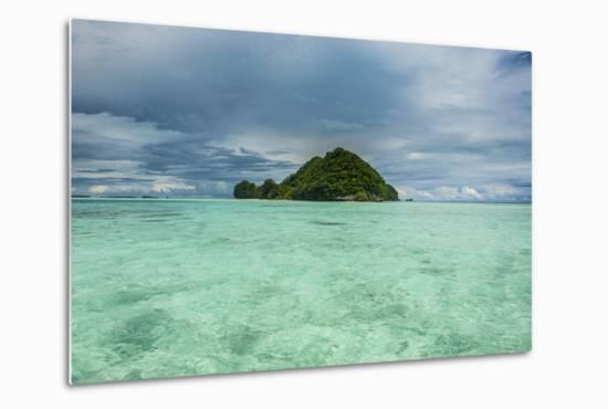 Little Island in the Rock Islands, Palau, Central Pacific-Michael Runkel-Metal Print