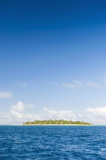 Little Island with a White Sand Beach in Haapai, Haapai Islands, Tonga, South Pacific, Pacific-Michael Runkel-Photographic Print