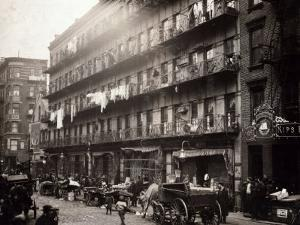 Little Italy, a Row of Tenements on Elizabeth St, New York, 1912