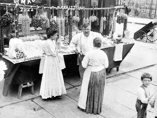 Little Italy, Vendor with Wares Displayed During a Festival, New York, 1930s--Photo