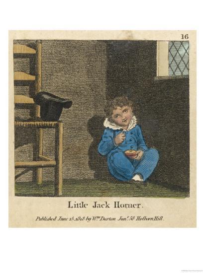 Little Jack Horner Sat in a Corner Eating a Christmas Pie--Giclee Print