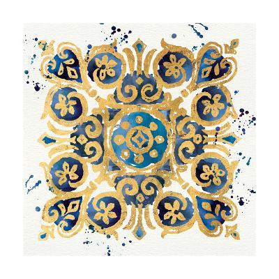 Little Jewels III Blue-Jess Aiken-Art Print