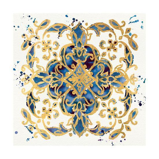 Little Jewels IV Blue-Jess Aiken-Art Print