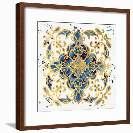Little Jewels IV Blue-Jess Aiken-Framed Art Print