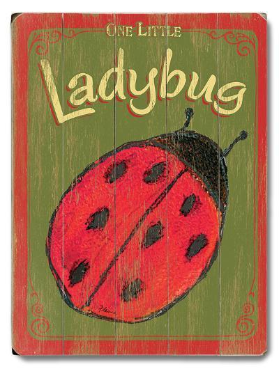 Little Ladybug--Wood Sign