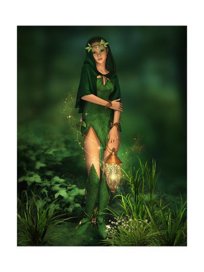 Little Light In The Deep Forest-Atelier Sommerland-Art Print