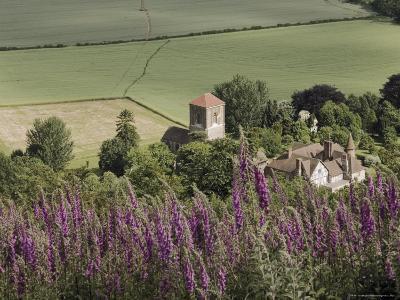 Little Malvern Village, Viewed from Main Ridge of the Malvern Hills, Worcestershire, England-David Hughes-Photographic Print