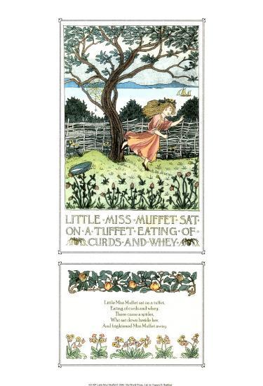 Little Miss Muffet-Francis Donkin Bedford-Art Print