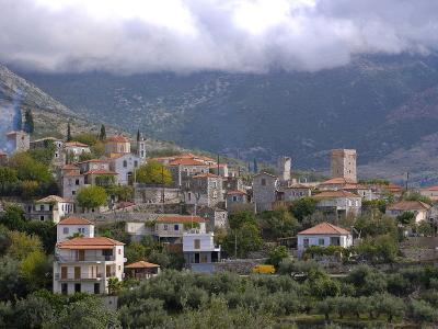 Little Mountain Village in the Lakonian Mani, Peloponnese, Greece, Europe--Photographic Print