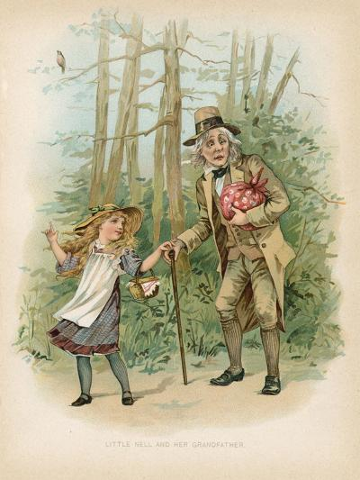 Little Nell and Her Grandfather--Giclee Print
