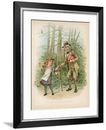 Little Nell and Her Grandfather--Framed Giclee Print