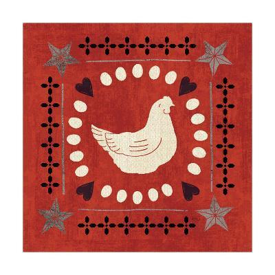 Little Red Farm Tile III-Veronique Charron-Art Print