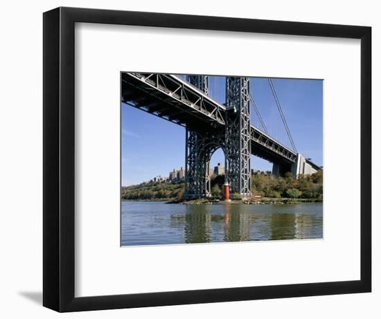 Little Red Lighthouse Under George Washington Bridge, New York, USA-Peter Scholey-Framed Photographic Print