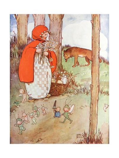 Little Red Riding Hood in the Forest--Giclee Print