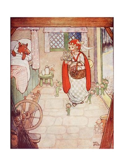 Little Red Riding Hood Meets the Wolf--Giclee Print