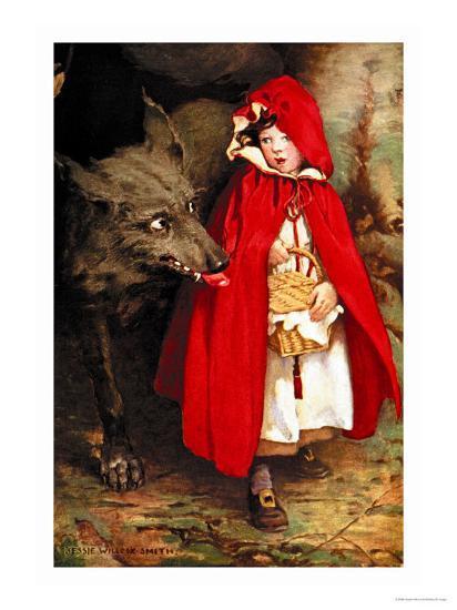 Little Red Riding Hood' Art Print - Jessie Willcox-Smith | Art.com
