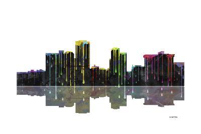 Little Rock Arkansas Skyline BW 1-Marlene Watson-Giclee Print