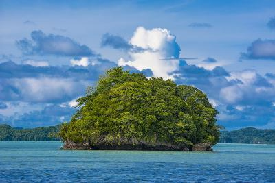 Little Rock Islet in the Famous Rock Islands, Palau, Central Pacific-Michael Runkel-Photographic Print