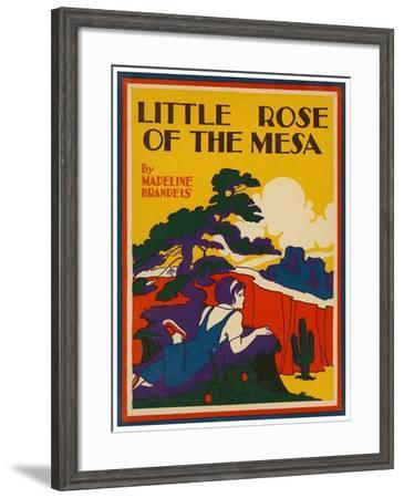 Little Rose Of The Mesa--Framed Art Print