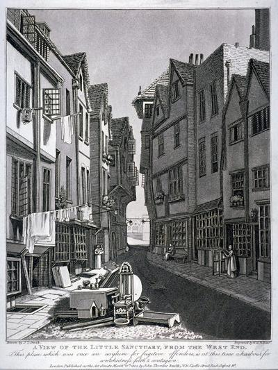 Little Sanctuary, Westminster, London, 1807-William Fellows-Giclee Print