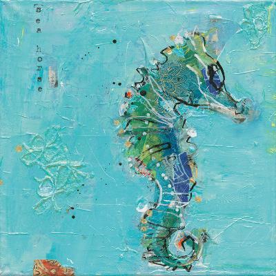 Little Seahorse Blue-Kellie Day-Art Print