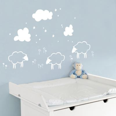 Little Sheeps - White Wall Decal--Wall Decal