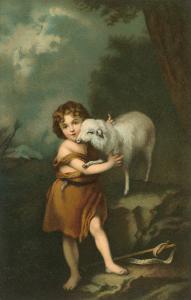 Little Shepherd with Lamb