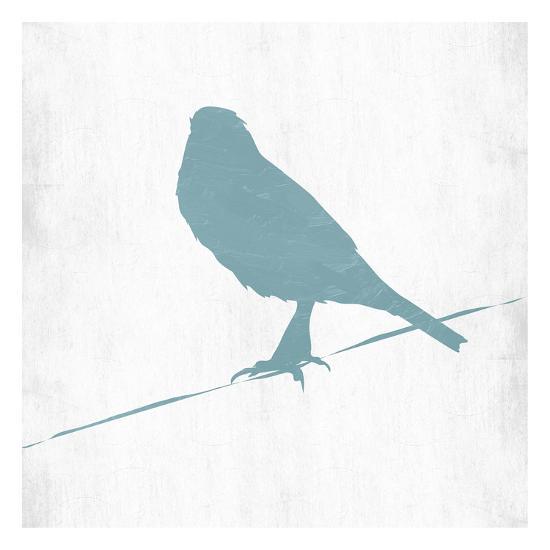Little Spring Bird On Wire-Sheldon Lewis-Art Print