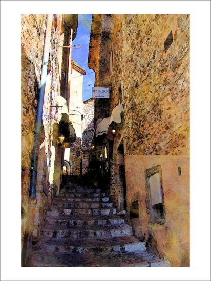 Little Stairs, La Villa, France-Nicolas Hugo-Giclee Print