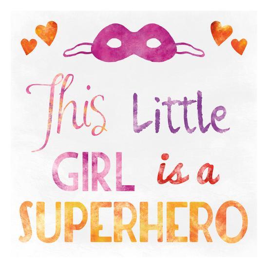 Little Super Girl-Marcus Prime-Art Print