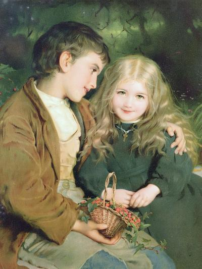 Little Sweethearts, from a Pears Annual, C.1880--Giclee Print