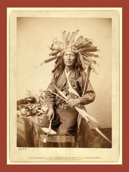 Little, the Instigator of Indian Revolt at Pine Ridge, 1890--Giclee Print