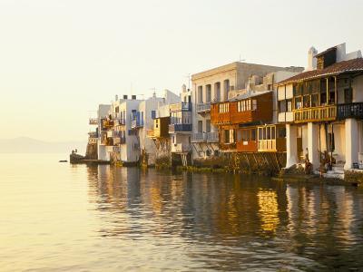 Little Venice at Sunset, Mykonos Town, Mykonos, (Mikonos), Greek Islands, Greece-Lee Frost-Photographic Print