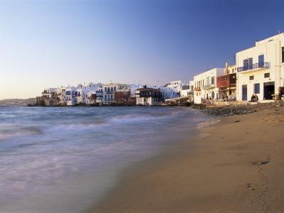 Little Venice, Mykonos Town, Island of Mykonos, Cyclades, Greece-Lee Frost-Photographic Print
